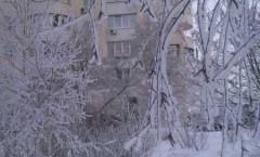Новый Год. фото заснеженного города