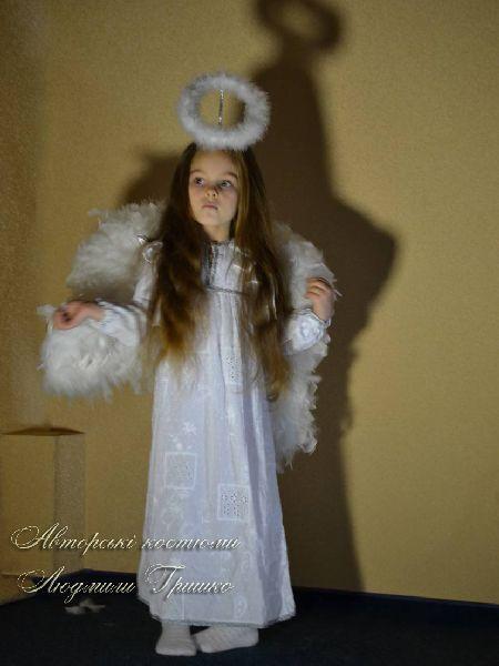 авторский карнавальный костюм ангелочка фото