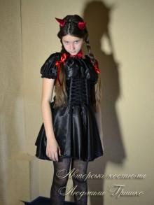 костюм чертика для девочки фото с рожками