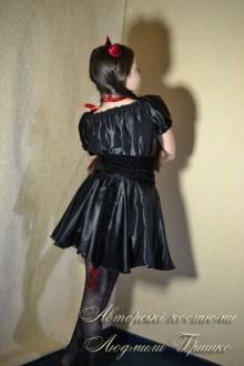 костюм чертика для девочки фото вид со спины
