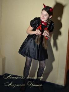 костюм чертика для девочки фото на новый год