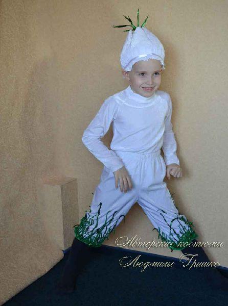 авторский детский костюм чеснока на праздник осени фото