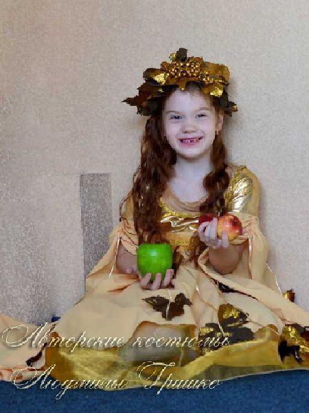 маскарадный костюм осень золотая фото