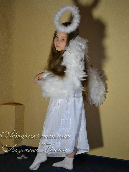 костюм ангелочка фото вид сбоку