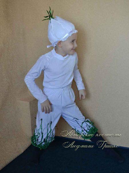 авторский карнавальный костюм чеснока фото
