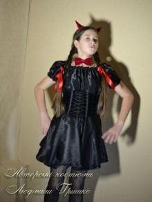 карнавальный костюм чертика для девочки фото