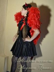 фото костюм чертенка с крыльями на Hallowen