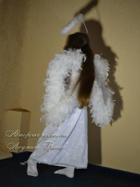 костюм ангелочка фото вид на крылья