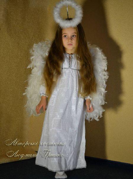 авторский детский карнавальный костюм ангелочка фото