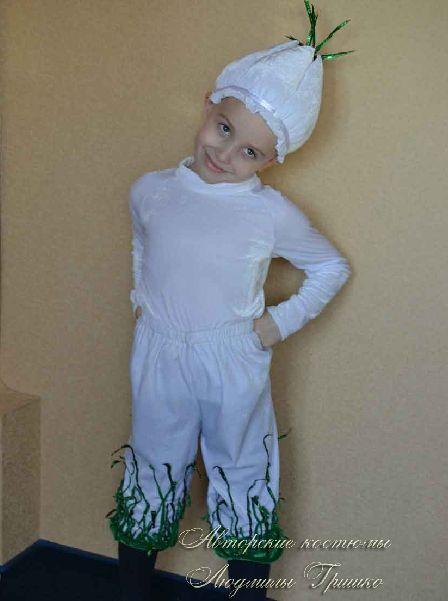 костюм чеснока для мальчика фото