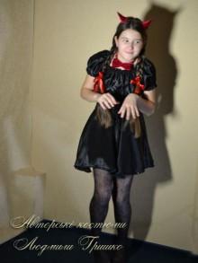 авторский карнавальный костюм чертика для девочки фото