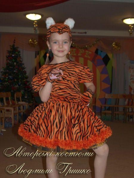 детский авторский костюм тигрицы фото
