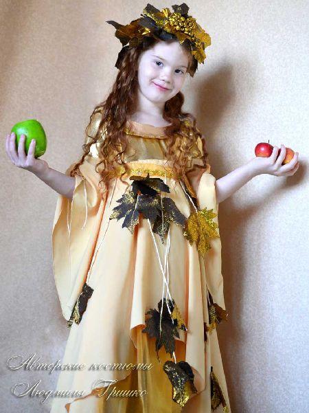 детский карнавальный костюм осень золотая фото