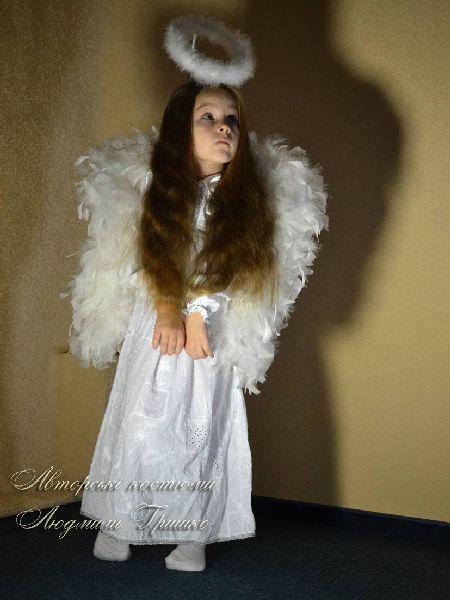 костюм ангелочка фото с крыльями и нимбом