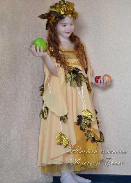 костюм осень золотая фото на праздник осени