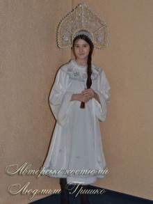 костюм снегурочки белый фото в короне