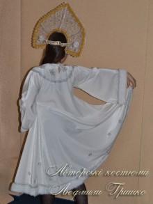 костюм снегурочки белый фото видсзади