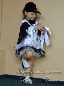 костюм сороки для девочки рост 98-110 фото