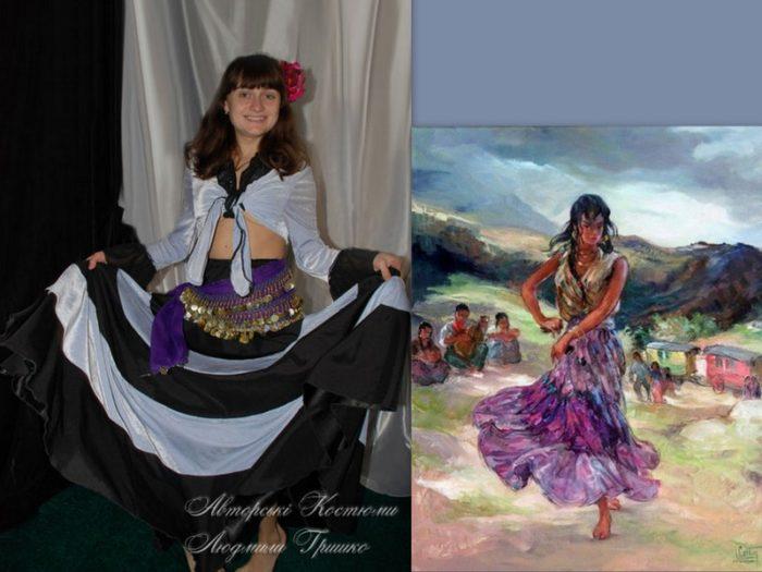 цыганский женский костюм фото коллаж