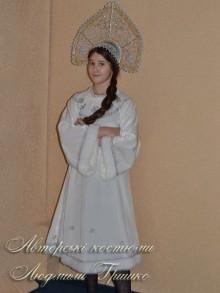 детский костюм снегурочки белый фото