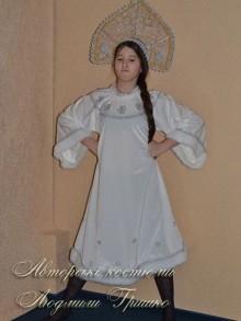 новогодний костюм снегурочки белый фото