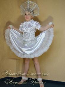 фото костюм снежинки с пышной нижней юбкой