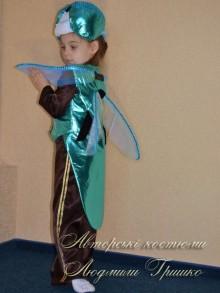 фото костюм стрекозы фрак из парчи с крыльями