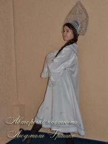 костюм снегурочки белый фото костюма для девочки