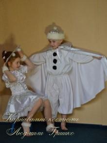 фото костюм Снежного Стража с черными пуговицами