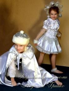 фото костюм снежного стража и снежинки детские
