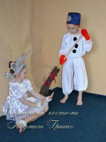 костюм снежинка фото со снеговиком