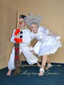 костюм снежинка и снеговик фото карнавальных костюмов
