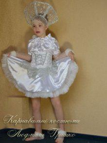 костюм снежинки детский фото в корсете с вышивкой