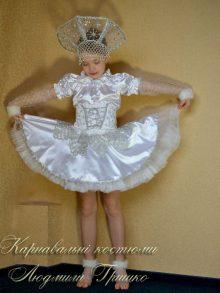 костюм снежинки детский фото в юбке с подъюбником