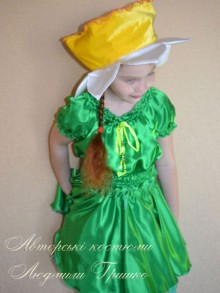 костюм цветка нарцисса фото новогоднего костюма для девочки