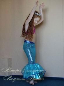фото авторский карнавальный костюм русалочки для девочки