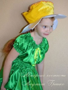 костюм цветка нарцисса для девочки фото