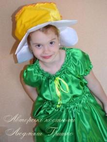 фото костюм цветка нарцисса для девочки