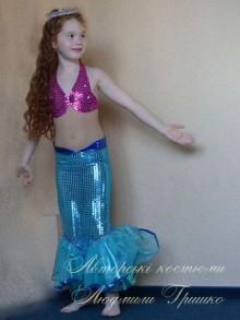 дизайнерский карнавальный костюм русалочки фото