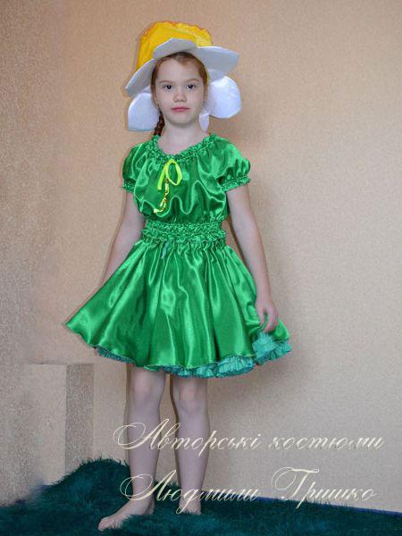 костюм цветка нарцисса фото авторского костюма для девочки