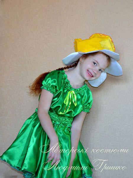 костюм цветка нарцисса фото карнавального костюма для девочки