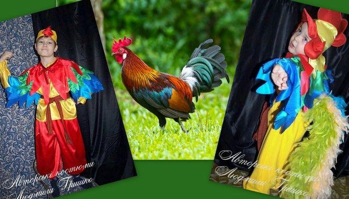 детский карнавальный костюм петушок фото коллаж на фоне петуха