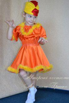 Как сшить костюм курочки рябы для девочки своими руками
