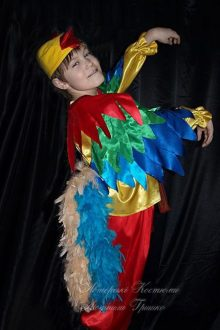 фото авторский карнавальный костюм петушок с хвостом из натурального пера