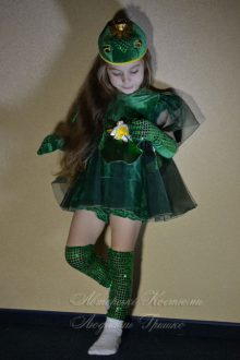 костюм царевны лягушки фото платье с лилиями