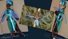 костюм стрекозы фото коллаж на фоне стрекозы