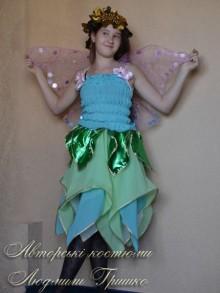 костюм эльфа для девочки фото с розовыми крыльями