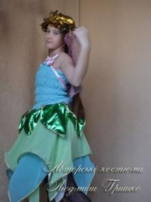 авторский карнавальный костюм эльфа для девочки фото