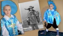 фото коллаж костюм мушкетера и его эскиз