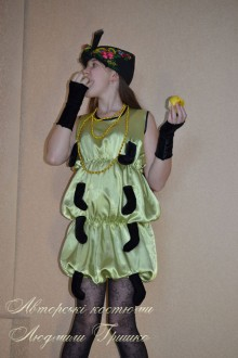 авторский костюм гусеницы фото